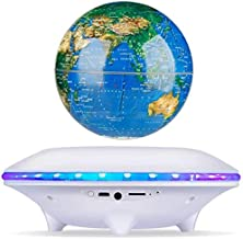 Speaker XQJJFJ Magnetic Suspension Earth Instrument, Audio Colorful Glow Rotation Wireless Bluetooth Subwoofer Can Insert ... photo