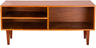 GRAFZEAL Retro TV Stand, TV Cabinet Console, Mid-Century Media Console Modern TV Console Storage Cabinet with Storage Shelf, in Living Room, Easy Assembly KDG01X