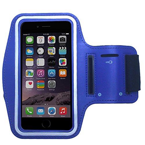 Cbus Wireless Fascia da braccio sportiva per jogging, jogging, corsa e allenamento, compatibile con iPhone 12 Pro MAX/XR/XS MAX/8 Plus/7 Plus/6 Plus (blu)