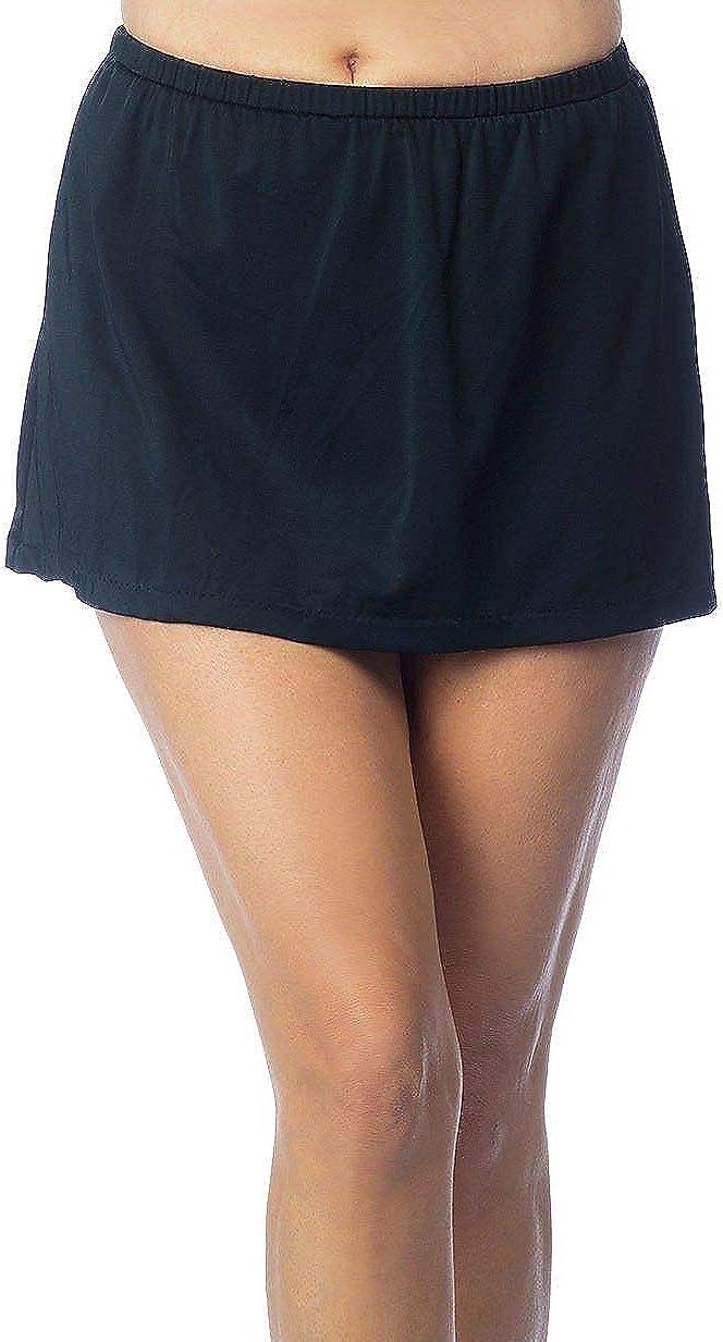 Maxine Of Hollywood Women's Mid Rise Skirted Swimsuit Bottom