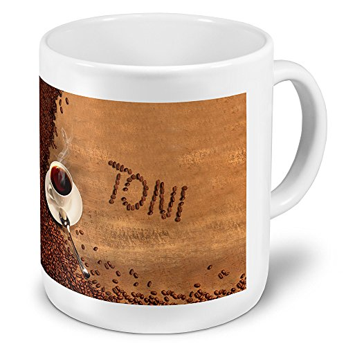 """XXL Riesen-Tasse mit Namen """"Toni"""" - Jumbotasse mit Design Kaffeebohnen - Namens-Tasse, Kaffeebecher, Becher, Mug"""