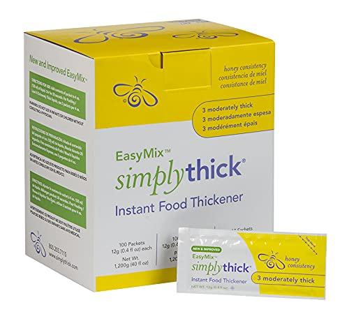 SimplyThick EasyMix | 100 Count of 12g Individual Packets | Gel...