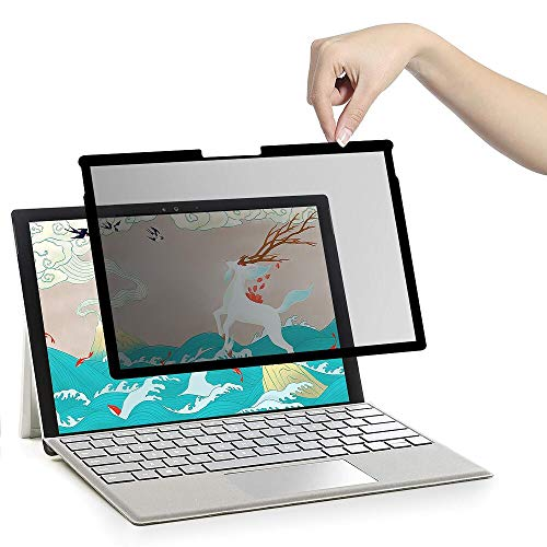 【Fully Removable 】 ZOEGAA Surface Book 1/2 15 inch Privacy Screen Protector Anti-Blue Light/Anti-Spy Filter Compatible Microsoft Surface Book 2 Privacy Screen Protector