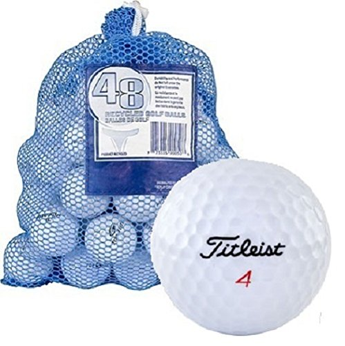Titleist Recycled Golf Balls in Mesh Bag (48-Pack)