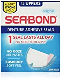 Sea Bond Secure Denture Adhesive Seals Original Uppers, Zinc Free, All Day Hold, Mess Free...