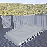 Protección De Privacidad Pantalla De Privacidad De Balcón De Jardín, Cubierta De Protección De Seguridad De Balcón Resistente A La Intemperie con Ojales Y Cubierta De Invernadero De Cable (Color: A,