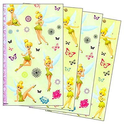 Disney Tinker Bell Stickers 4 Sheets of Tinkerbell Fairy Stickers
