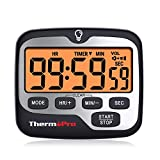 ThermoPro TM01 Kitchen Timer Digital Cooking Timer with Large LCD Display Big Digits Alarm Volume Adjustable...