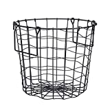 Nimomo Canasta de Ropa Sucia —— Hierro Hogar Baño Ropa Sucia Canasta de lavandería Soporte de Almacenamiento Organizador