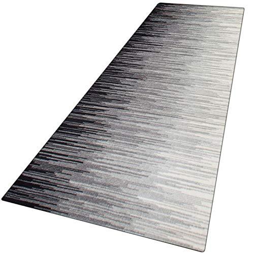 WUZMING-Tappeto Corridoio Grigio Tappeto Passatoia Retro Antiscivolo per Corridoio/Cucina/Tappeti Stretti, Lavabile in Lavatrice (Color : Gray, Size : 60x270cm)
