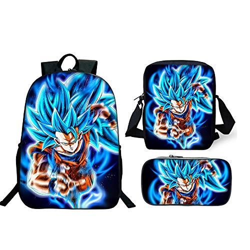 Mochila Dragon Ball Escolar  Z Mochilas Escolares Juveniles para Niños Infantil Adolescentes
