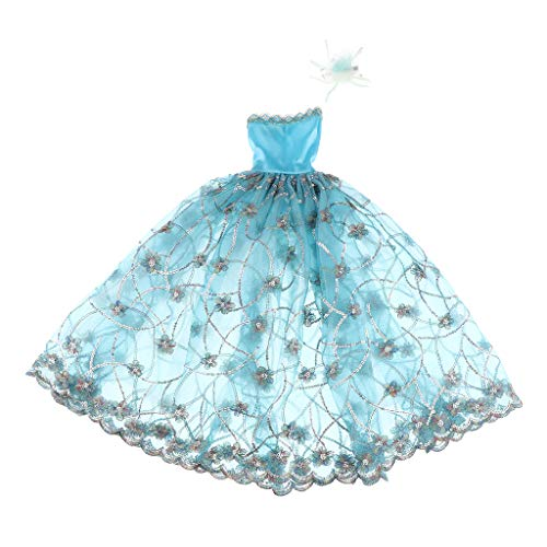 perfeclan 1/3 BJD Doll Party Dress Princess Girl Doll Clothes Dress Up Accesorio Azul