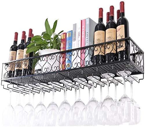 Estantería de vino Bastidores de hierro  Estanterías de vino colgando  Soporte de...
