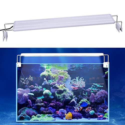 Full Spectrum LED Aquarium Light with Extendable Brackets Fish Tank Light WINGKIT LED Aquarium Hood Light