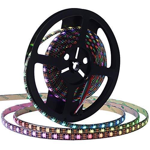 WS2812B CHINLY 5m 300leds DC5V einzeln adressierbaren LED-Streifen 5050 RGB SMD 300 Pixel Traumfarbe Wasserdichte IP65 PCB Schwarz