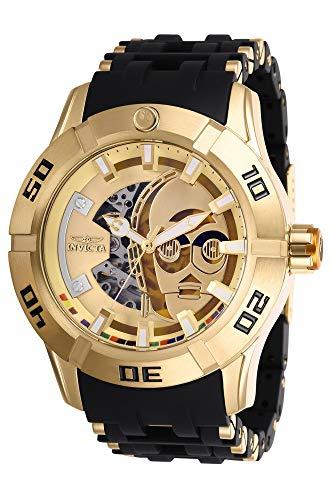 Invicta 26550 Star Wars - C-3PO Reloj para Hombre acero inoxidable Automático Esfera oro