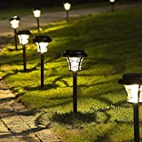 Solpex 6 Pack Solar Path Lights Outdoor,High Lumen Automatic Led for Patio, Yard Lawn and...
