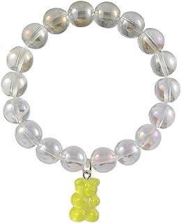 Mountainer Cute Cartoon Gummy Bear Beaded Stretch Bracelet for Women Girl Transparent Crystal Beads Bracelets Friendship B...