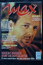 MAX 010 NOVEMBRE 1989 COVER MICKEY ROURKE VANESSA PARADIS MARYAM D\'ABO TERENCE TRENT D\'ARBY LAMBERT WILSON