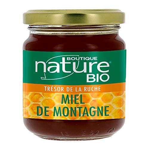 Boutique Nature - Miel de montagne - Pot de 250 g - Goût Délicat