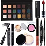 9 PCS Womens Makeup Kit, Makeup Sets for Women Beginners, Includes Eyebrow Pencil,Eyeliner Pen,Mascara,Eyeshadow Palette,Concealer,Loose Power,Blush,Lipstick,Lip Gloss