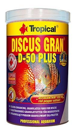Tropical Discus Gran D-50 Plus Granulés de 250 ml/95 g pour discus.