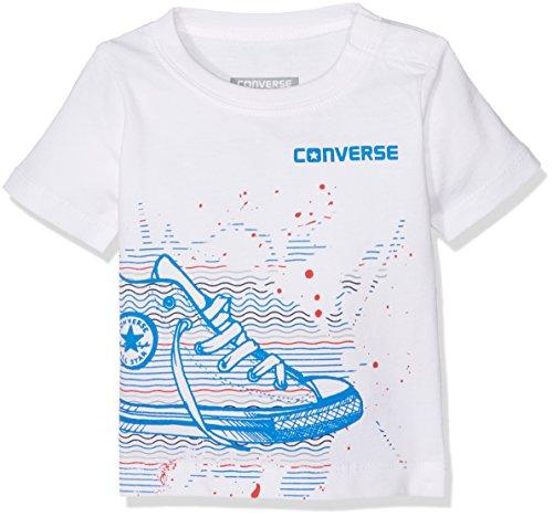 Converse Baby-Jungen Sneaker Splatter Tee Jogginganzug, Weiß (White 001), 6-9 Monate