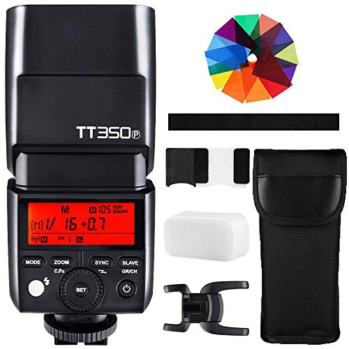 Godox TT350P Mini Cámara Flash 2.4G HSS 1 / 8000s TTL GN36...