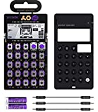 Teenage Engineering PO-20 Pocket Operator Arcade Synthesizer Bundle with CA-X Silicone Case, Blucoil 3-Pack of 7' Audio Aux Cables, and 2 AAA Batteries