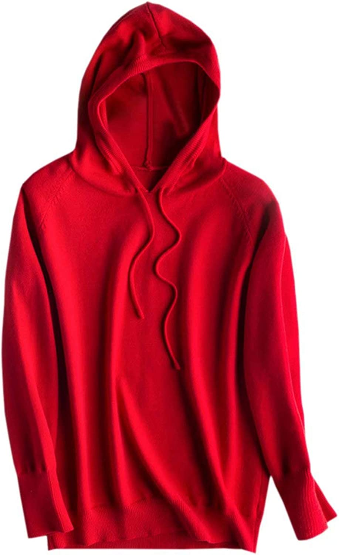NAWONGSKY Women's Cashmere Blend Hoodie