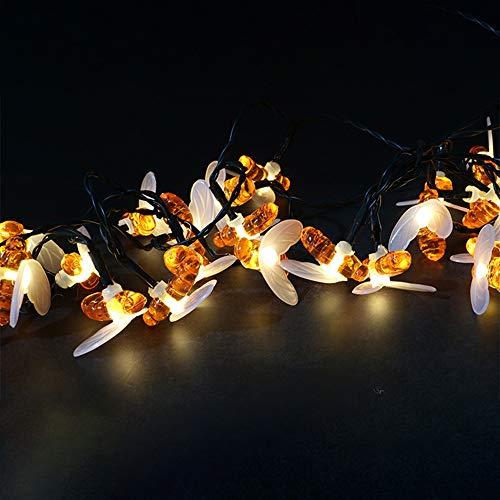 Solar Little bee LED-Lichterketten, 9.8ft 30 LED, Indoor Outdoor Dekorative Weihnachten Twinkle beleuchtet, IP65, im Freien Garten, Hof, Terrasse, Party, warmes Weiß