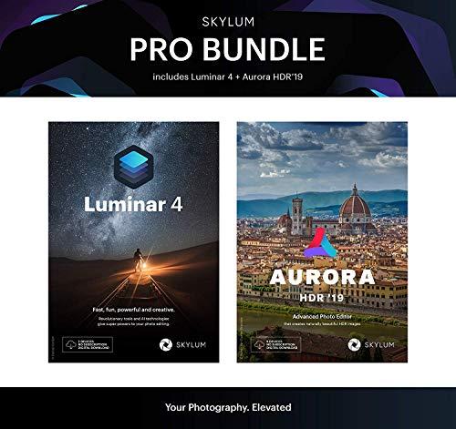 Luminar 4 ( 2 appareils ) et Aurora HDR 2019 ( 5 appareils ) version française, kit d'imagerie professionnelle, licence, code d'activation par courrier