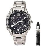 [セイコーウォッチ] 腕時計 ブライツ BRIGHTZ(ブライツ) 20周年記念限定モデル ソーラー電波 チタンクロノグラフ機能 ワールドタイム表記 クロコダイル替えバンド付き SAGA295 メンズ シルバー