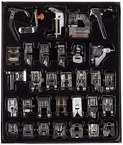 Auped 32 Piezas Multifuncional Prensatelas Accesorios para Máquina de Coser Presser Foot Feet Kit Machines Set, de Maquina de Coser Aplicar a Todas las Marcas.