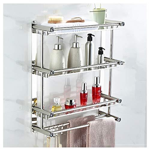 TTFFTT - Toallero de 3 estantes de baño, toallero de acero, estante para baño, pared de baño