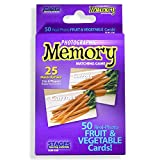 Stages Learning Materials Picture Memory Fruits & Vegetables Card Game Memory Game, Purple, Size 5 x 3