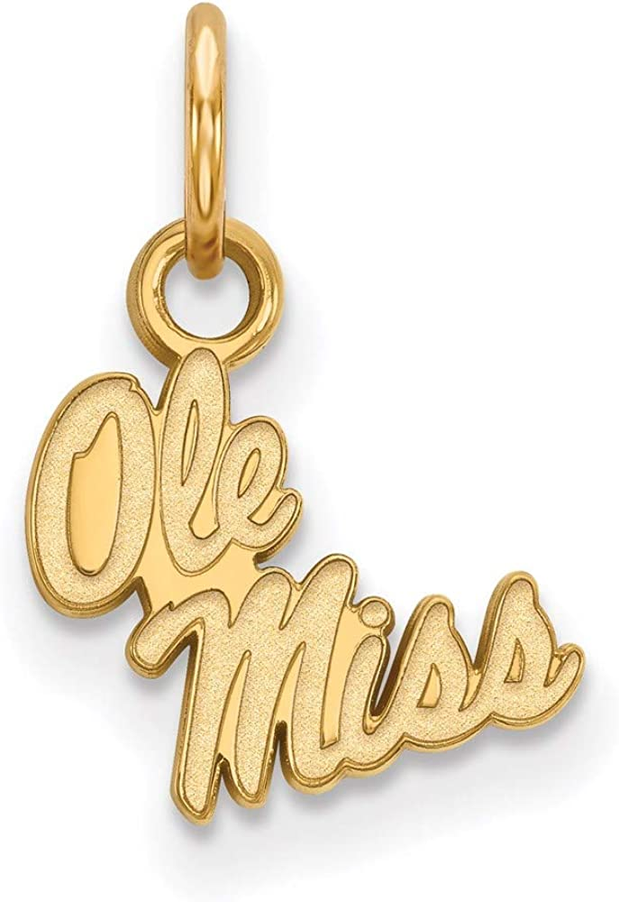 Charm Pendant 14K Colorado Springs Mall Yellow Gold Of Sale NCAA University 15 Mississippi
