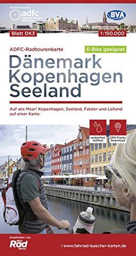 ADFC-Radtourenkarte DK3 Dänemark/Kopenhagen/Seeland 1:150.000 reiß- und wetterfest, GPS-Tracks Download, E-Bike geeignet: Auf ans Meer! Kopenhagen, ... einer Karte. (ADFC-Radtourenkarte 1:150000)