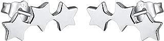 925 Sterling Silver Geometric Stud Dangle Drop Huggie Hoop Star Earrings Heart Earrings for Women Girls