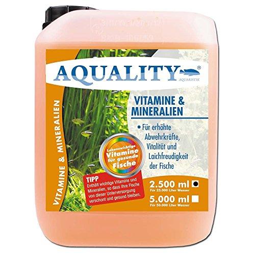 AQUALITY Vitamine & Mineralien (GRATIS Lieferung innerhalb Deutschlands - Enthält wichtige Fischvitamine für erhöhte Abwehrkräfte, Vitalität und Laichfreudigkeit der Fische im Aquarium), Inhalt:2.5 Liter