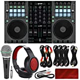 Gemini G4V 4-Channel Virtual DJ Controller and Mixer with Samson Dynamic Microphone, Closed-Back Headphones, and Deluxe Bundle