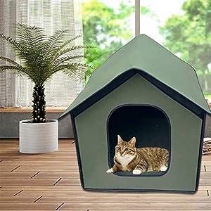 Casa para perros, Casa para gatos, Caseta impermeable para perros, Casa para mascotas resistente a la intemperie, Casa para perros interior al aire libre Refugio para cachorros, Refugio plegable