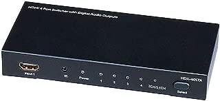Monoprice Blackbird 4x1 HDMI 1.4 Switch HDCP 1.4 with Toslink and Analog Audio Extractor 1080p@60Hz