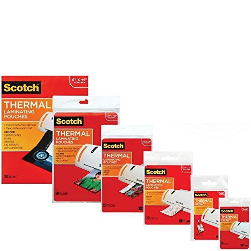 3M Laminating Pouch Kit with All Varieties of Laminating Pouche (1)