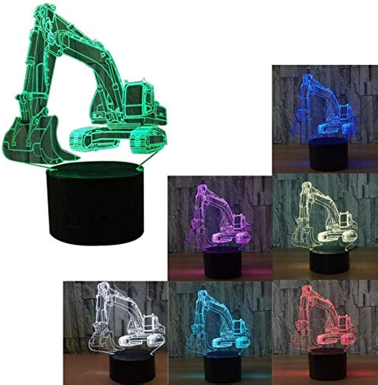 WMING Home 3D Illusion LED Nachtlicht 7 Farben Allmhliche nderung Romote Control Tischlampe Home Dekorationen , Mehrfarben Umgebungslicht