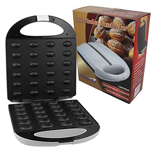 Piastra per waffle a forma di noce da 24 stampi