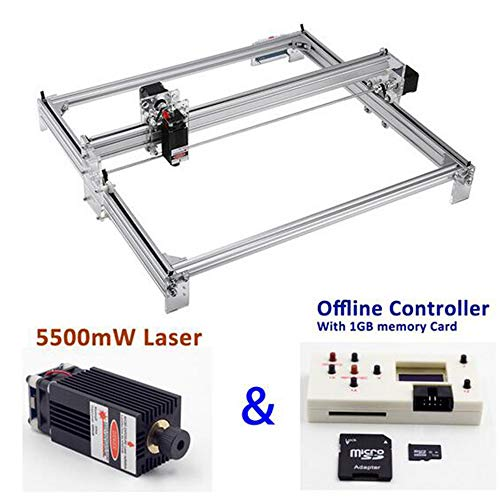 MEIGONGJU Für die Holzbearbeitung Metallgravur Drucker 65 * 50cm Mini-Laser Graviermaschine Holzbearbeitung Lasergravur Messer 1W 2.5W 5.5W 7W 10W 15W,5.5w and offline