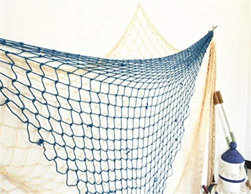 Beck Orlando Mediterranen Stil Strandszene Party Dekoration Net Fischernetz - weiß Flusskrebs (Farbe : Weiß)