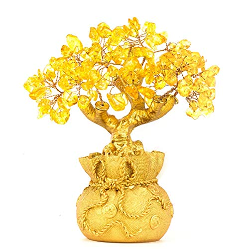 Bwinka Feng Shui avventurina verde naturale Gem Stone Money Tree ufficio casa tavolo decorazione Feng Shui Crystal Money Tree for Wealth and good luck
