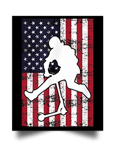 macknessfr Stunt Scooter American Kick Trick Competition Gift Wall Art Print Poster Home Decor(17x22)